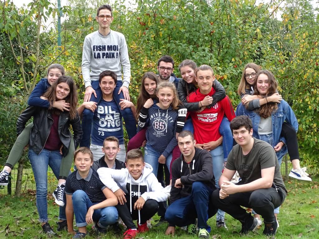 Le groupe qui a participé au lancement du nouveau projet!